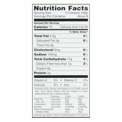Carr's Rosemary Crackers, 5-Ounce Boxes (Pack of 12) Perspective: back
