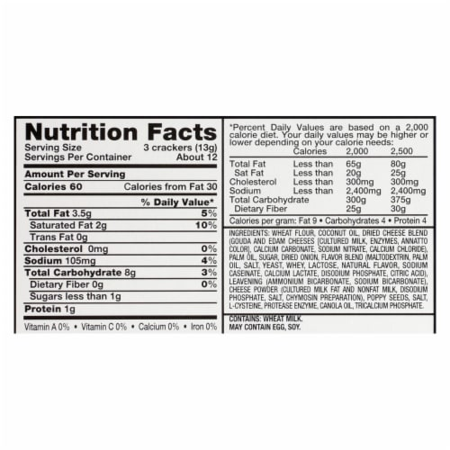 Carr's Cracker - Cheese Melt - Case of 12 - 5.3 oz Perspective: back