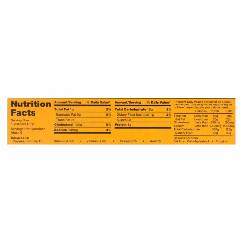 Carr's Table Water Crackers With Roasted Garlic and Herb - Case of 12 - 4.25 oz. Perspective: back