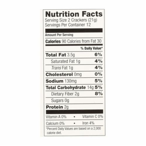Nairn's Rough Cut Organic Oatcakes - Case of 12 - 8.8 oz. Perspective: back