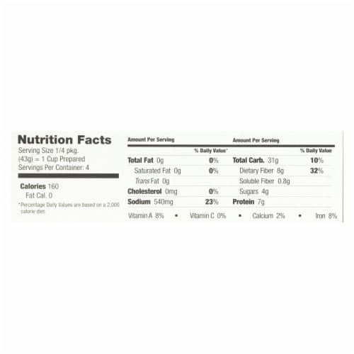 Streit's Soup Mix - Vegetable Barley Mushroom Soup - Case of 12 - 6 oz. Perspective: back