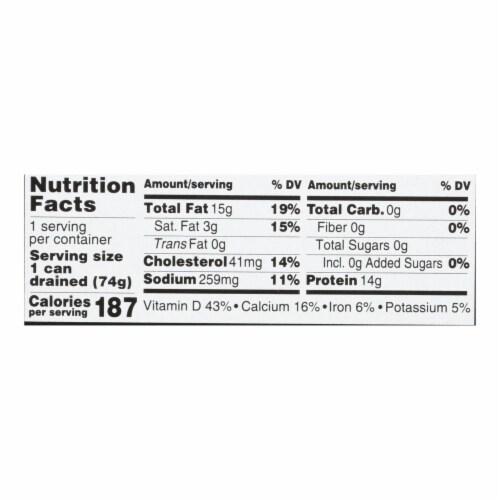 Season Brand Brisling Sardines in Olive Oil  - Salt Added - Case of 12 - 3.75 oz. Perspective: back