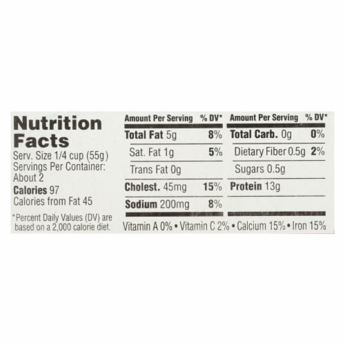 Season Brand Sardines in Tomato Sauce  - Salt Added - Case of 12 - 4.375 oz. Perspective: back