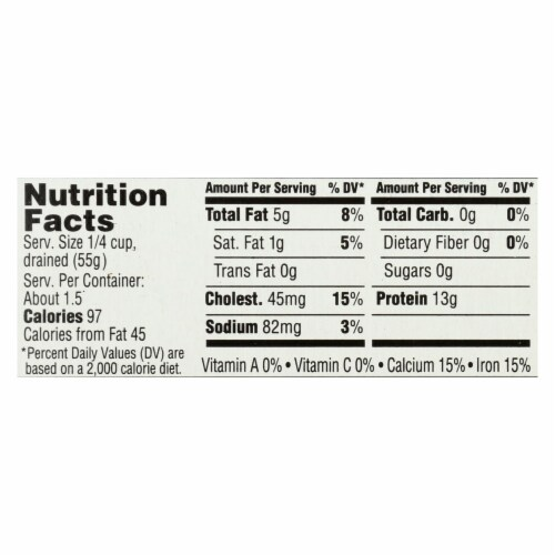 Season Brand Sardines in Water  - No Salt Added - Case of 12 - 4.375 oz. Perspective: back
