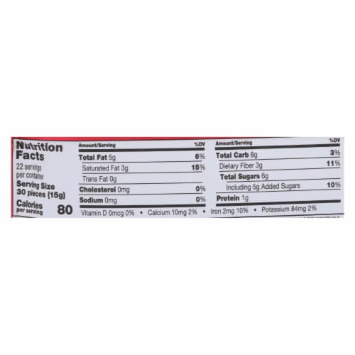 Guittard Chocolate Extra Dark - Chocolate Chip - Case of 12 - 11.5 oz. Perspective: back