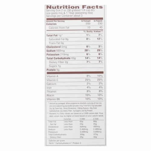 Near East Rice Pilaf - Mediterranean Chicken - Case of 12 - 6.3 oz Perspective: back