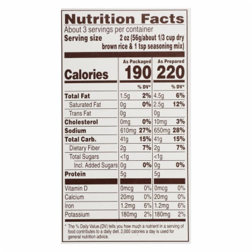 Near East Pilaf Brown Rice - Brown - Case of 12 - 6.17 oz. Perspective: back