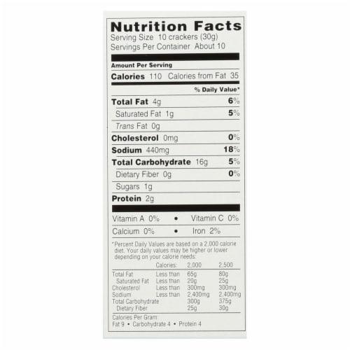 Manischewitz - Tam Original Snack Crackers - Case of 12 - 9.6 oz. Perspective: back