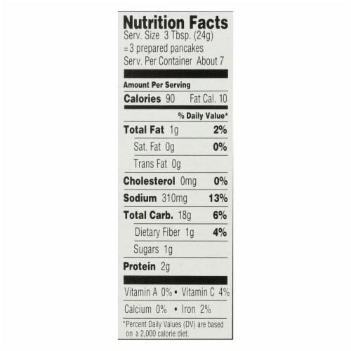 Manischewitz - Reduced Sodium Potato Pancake Mix - Case of 12 - 6 oz. Perspective: back