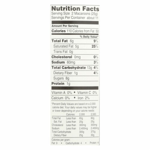 Manischewitz - Macaroon Coconut Kosher for Passover - Case of 12-10 OZ Perspective: back
