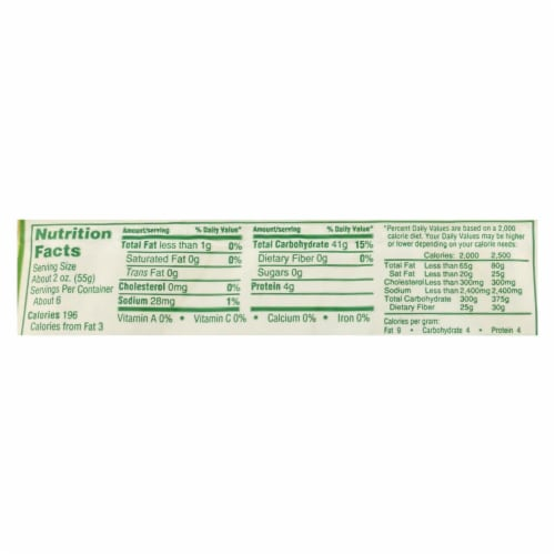 Manischewitz Gluten Free Fine Egg Noodles  - Case of 12 - 12 OZ Perspective: back