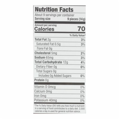 Absolutely Gluten Free - Crackers - Toasted Onion - Case of 12 - 4.4 oz. Perspective: back