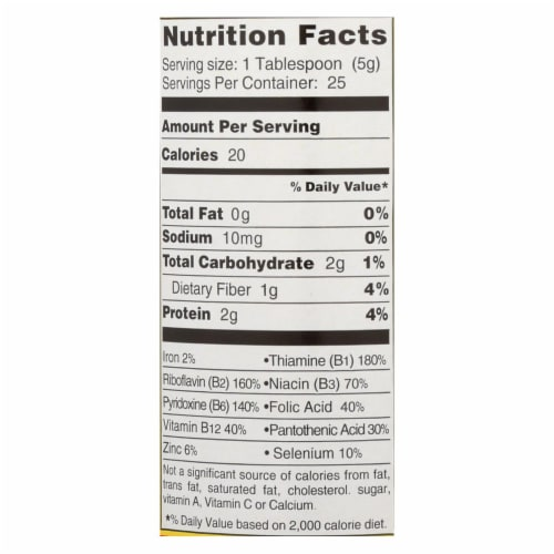 Bragg - Seasoning - Nutritional Yeast - Premium - 4.5 oz - case of 12 Perspective: back