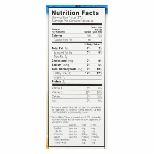 Arrowhead Mills - Organic Gluten Free Cereal - Sprouted Corn Flakes - Case of 6 - 10 oz Perspective: back
