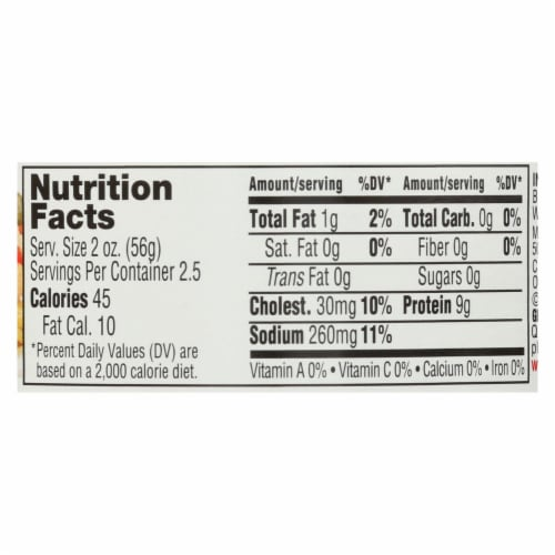 Valley Fresh Organic Chicken In Water  - Case of 12 - 5 OZ Perspective: back