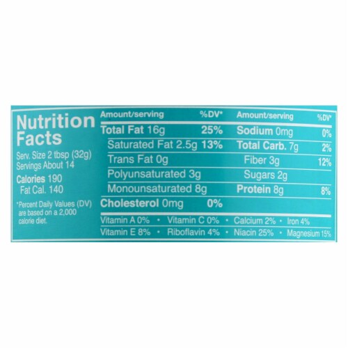 Crazy Richards Natural Creamy Peanut Butter - Case of 12 - 16 oz. Perspective: back