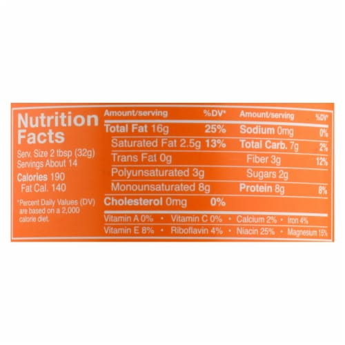 Crazy Richard's All-Natural Crunchy Peanut Butter - Case of 12 - 16 OZ Perspective: back