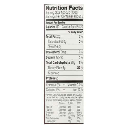 Westbrae Foods Organic Garbanzo Beans - Case of 12 - 25 oz. Perspective: back