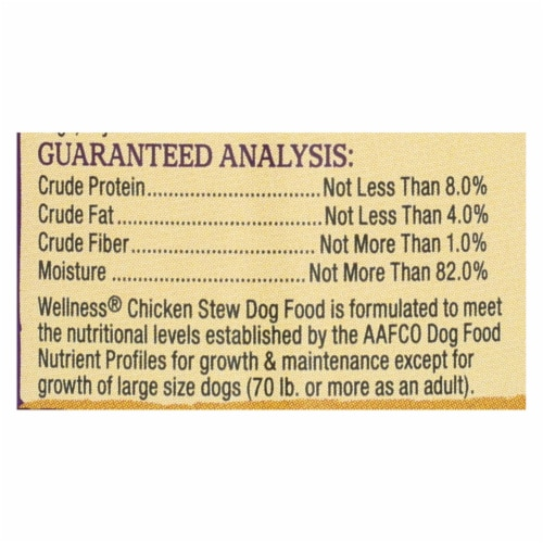 Wellness Pet Products Dog Food - Chicken with Peas and Carrots - Case of 12 - 12.5 oz. Perspective: back