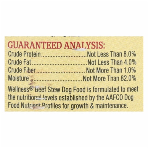 Wellness Pet Products Dog Food - Beef with Carrot and Potatoes - Case of 12 - 12.5 oz. Perspective: back