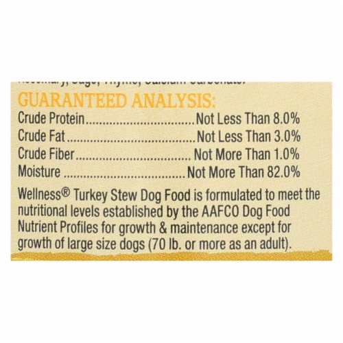 Wellness Pet Products Dog Food - Turkey with Barley and Carrots - Case of 12 - 12.5 oz. Perspective: back