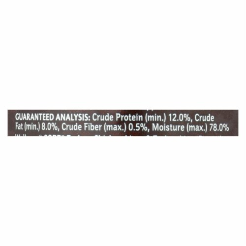 Wellness Pet Products Dog Food - Gain Free - Turkey and Chicken with Liver-Case of 12-12.5oz Perspective: back