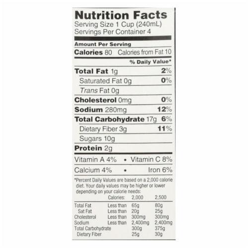 Imagine Foods Garden Tomato Soup - Low Sodium - Case of 12 - 32 Fl oz. Perspective: back
