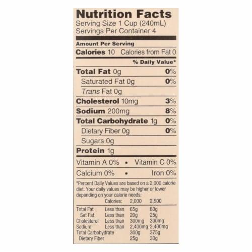 Imagine Foods Seafood Stock - Case of 12 - 32 Fl oz. Perspective: back