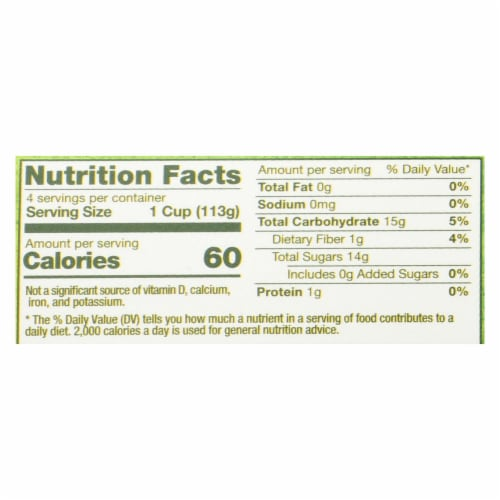 Vermont Village Organic Applesauce - Unsweetened - Case of 12 - 4 oz. Perspective: back