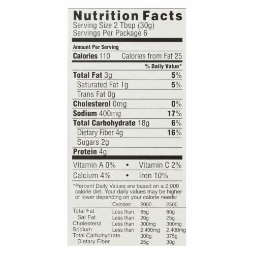 Knorr Mediterranean Style Falafel Mix  - Case of 12 - 6.3 OZ Perspective: back