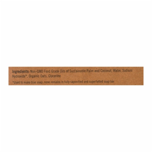 Sappo Hill Natural Oatmeal Glycerine Soap Fragrance Free - 3.5 oz - Case of 12 Perspective: back