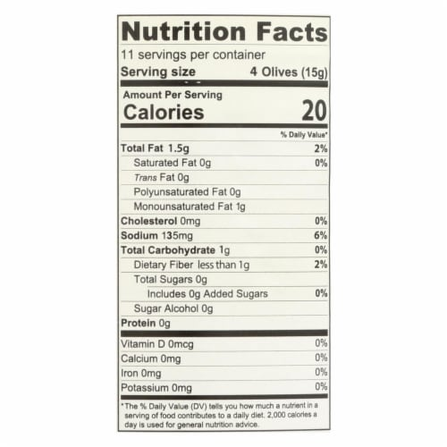 Santa Barbara California Green Olives - Pitted - Case of 12 - 5.75 oz. Perspective: back