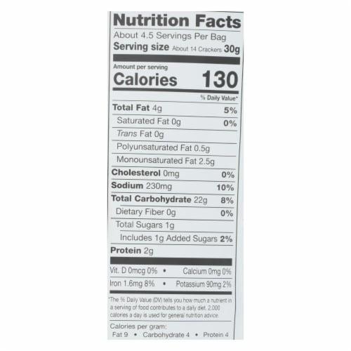 Miltons - Cracker Olive Oil Gluten Free - Case of 12 - 4.5 OZ Perspective: back