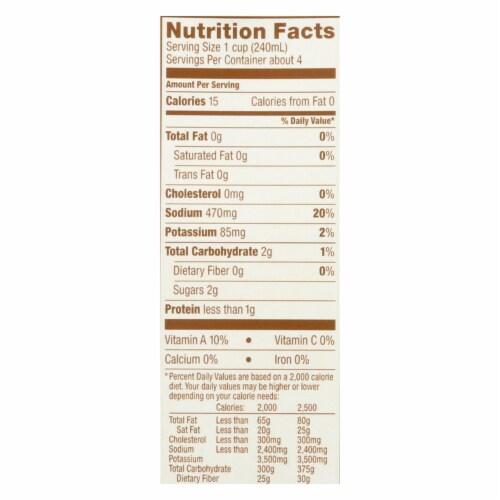 Kitchen Basics Vegetable Stock - Case of 12 - 32 oz. Perspective: back