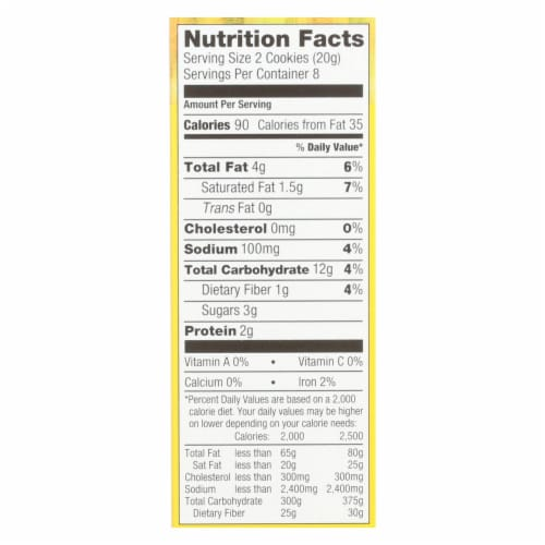 Nairn's Oatmeal Ginger Cookie Gluten - Ginger - Case of 12 - 5.64 oz. Perspective: back