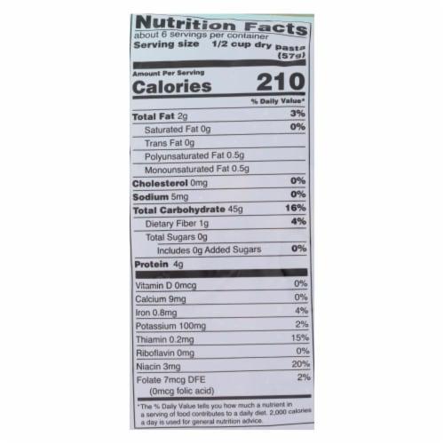 Tinkyada Organic Brown Rice Pasta - Elbows - Case of 12 - 12 oz Perspective: back