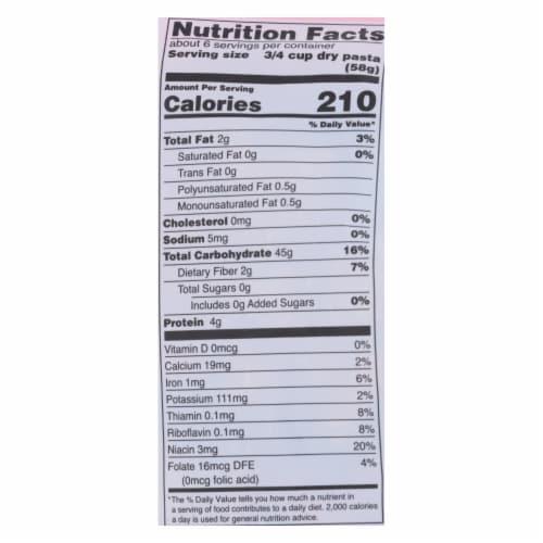 Tinkyada Brown Rice Pasta - Vegetable Spiral - Case of 12 - 12 oz Perspective: back