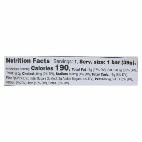 Love Good Fats - Bar Mint Chocolate Chip - Case of 12 - 1.38 OZ Perspective: back