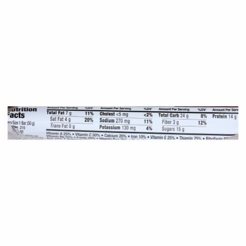 Zone - Nutrition Bar - Chocolate Peanut Butter - Case of 12 - 1.76 oz. Perspective: back