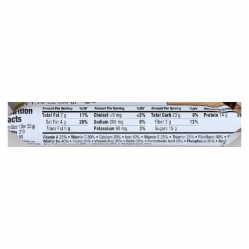 Zone - Nutrition Bar - Fudge Graham - Case of 12 - 1.76 oz. Perspective: back