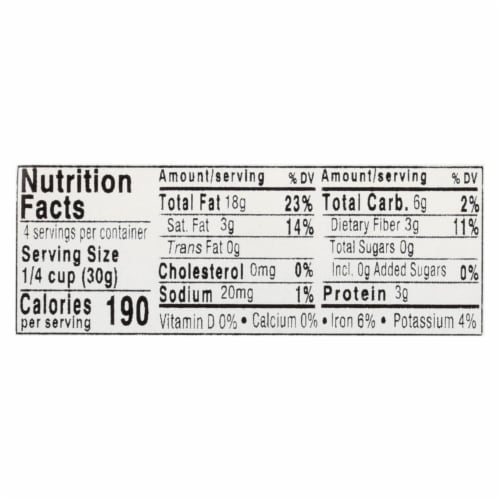 Aurora Natural Products - Organic Pine Nuts - Case of 12 - 4 oz. Perspective: back
