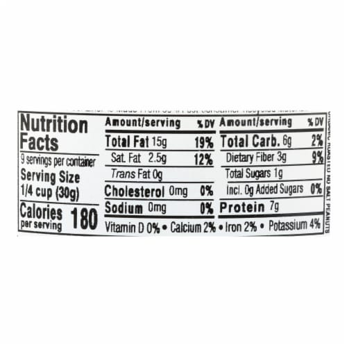 Aurora Natural Products - Organic Roasted Unsalted Peanuts - Case of 12 - 10 oz. Perspective: back