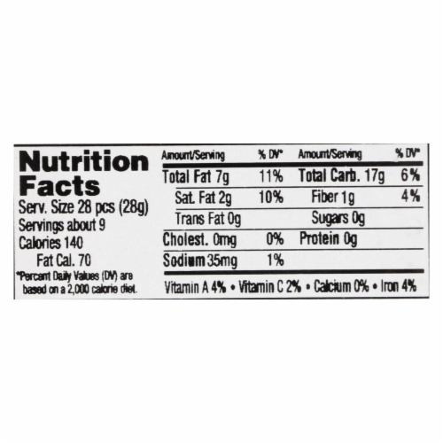 Aurora Natural Products - Plantain Chips - Case of 12 - 8.75 oz. Perspective: back