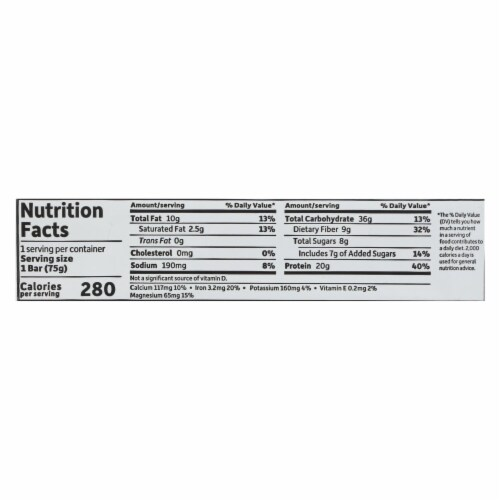 Garden Of Life - Sport Protein Bar - Peanut Butter Chocolate - Case of 12 - 2.7 OZ Perspective: back
