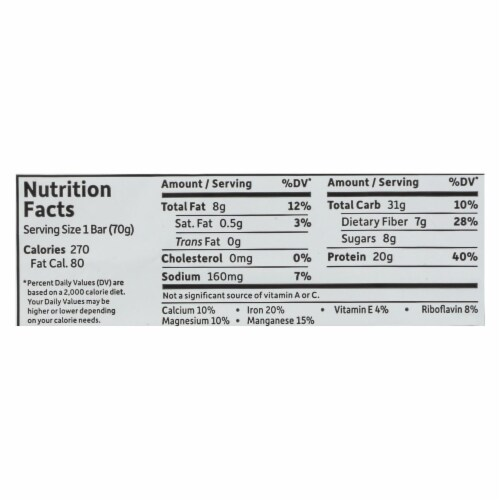 Garden Of Life - Sport Protein Bar Sea Salt Caramel - Case of 12 - 2.46 OZ Perspective: back