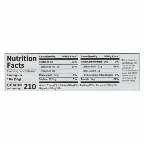 Garden Of Life - Fit High Protein Bar Peanut Butter Chocolate - Case of 12 - 1.9 OZ Perspective: back