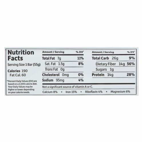 Garden Of Life - Fit High Protein Bar Chocolate Fudge - Case of 12 - 1.9 OZ Perspective: back