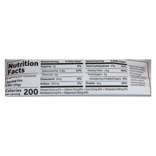 Garden Of Life - Fit High Protein Bar Chocolate Coconut Almond - Case of 12 - 1.9 OZ Perspective: back