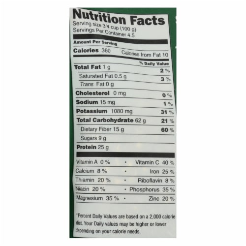 Shasha Bread Bio-Bud, Sprouted Mung Beans - Case of 12 - 16 OZ Perspective: back