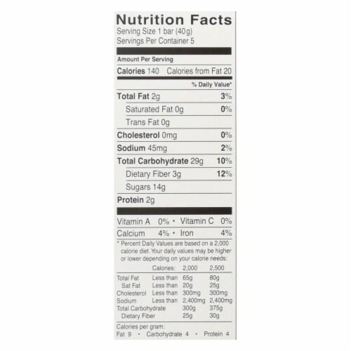 Glutino Breakfast Bars - Apple - Case of 12 - 7.1 oz. Perspective: back